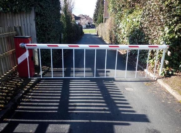 We modified this Casit 5M barrier so we could fit a Parking Facilities arm and skirt. This was done to bring it up to date, we installed the barrier 2008. The new arm and skirt. fitted 2014