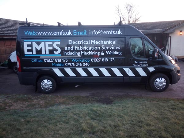 This is our large mobile workshop van which is fully kitted out for installation and repair services