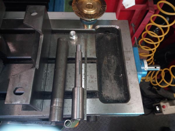 New shaft made for converting an auto drive unit.