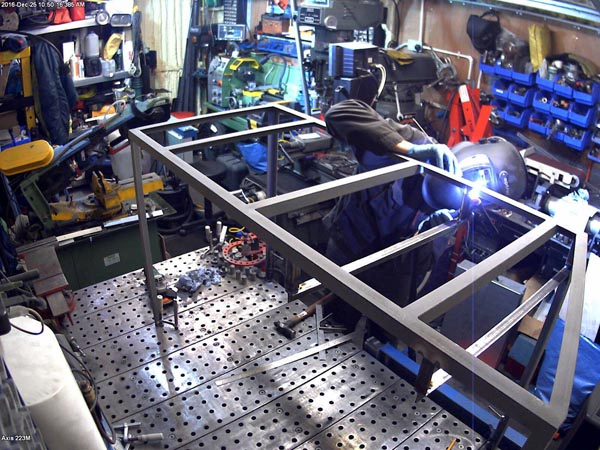 This is a bespoke table that we made to fit into the new mobile workshop van. It has a large pullout draw with all the mark-out tools need for onsite fabrication.