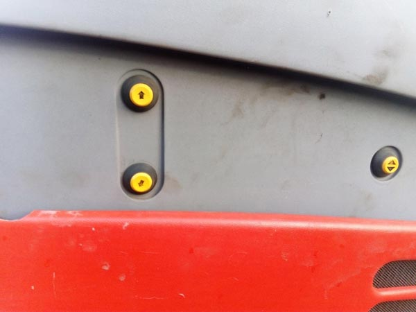 New dustbin lift out push button replaced on CM300
