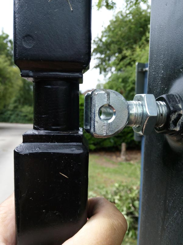 We needed to remove 6mm from the top hinge so the gate would fit the hinge.