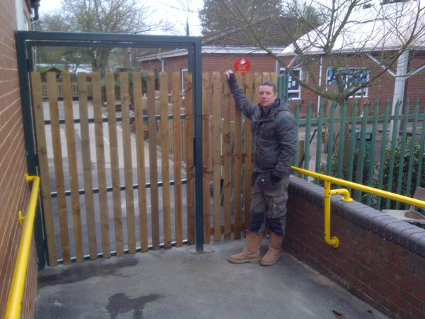 This Gate was installed for disabled access Net2 in/out. We installed this February 2012.