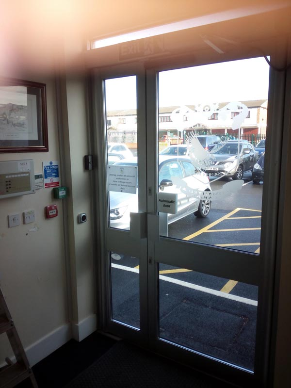 This is our Auto door with Net2 on exit and entry.